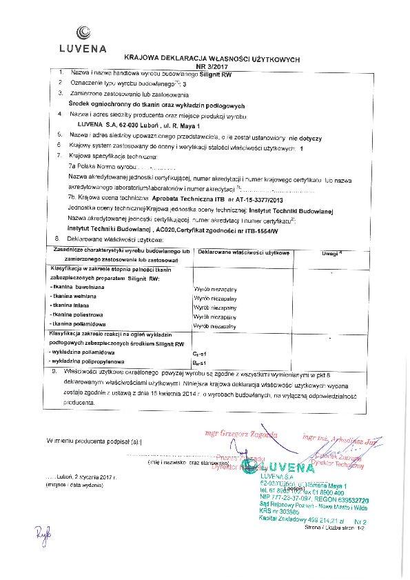 silignit_krajowa-deklaracja-wlasnosci-uzytkowych_2017