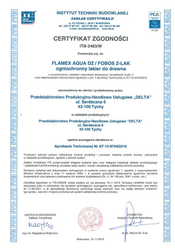 fobos-z-lak-certyfikat-zgodnosci-itb-2483-w